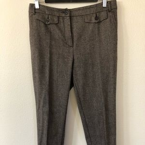 Max&co brown wool blend trousers